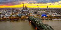 Cologne sunset ©MarkusLandsmann